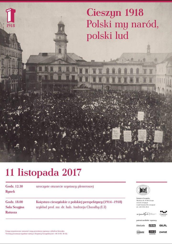 Cieszyn 1918 Polski My Naród Polski Lud Książnica Cieszyńska