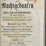 Strona tytułowa niemieckiego przekładu Nocy Younga (1768)