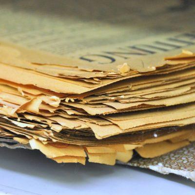 Najgorszej jakości papieru używano do produkcji gazet i czasopism