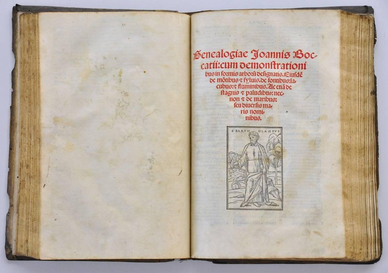 Strona tytułowa De genealogia deorum gentilium (1511)