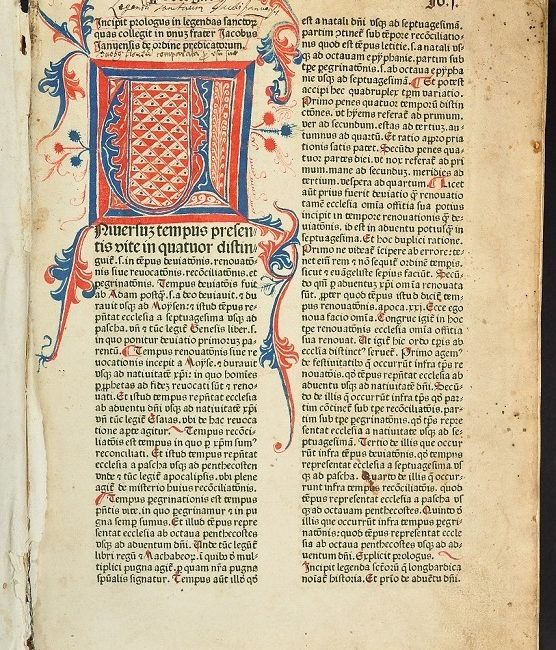 Rubrykowany Prolog do norymberskiego inkunabułu Legendaaurea (1478) z Biblioteki Szersznika