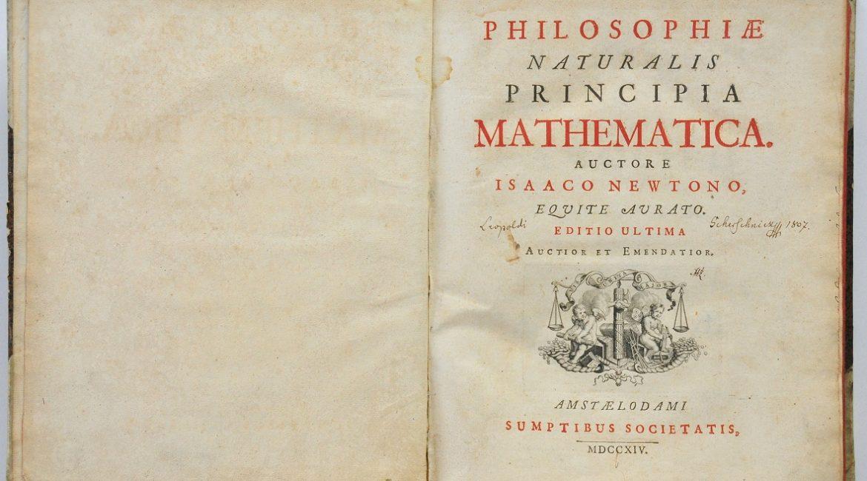 Strona tytułowa amsterdamskiej edycji Philosophiae naturalis principia mathematica (1714)