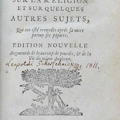 """""""Myśli"""" Blaise'a Pascala albotragizm egzystencjalny człowieka nowożytnego"""